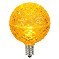 Vickerman G50 Faceted LED Yellow Bulb E12 .38W