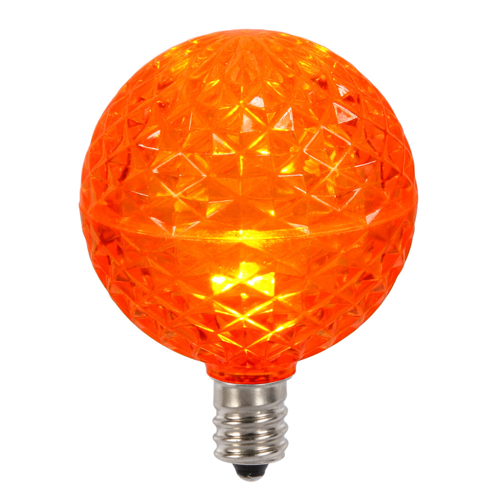 Vickerman G50 Faceted LED Orange Bulb E12 .38W