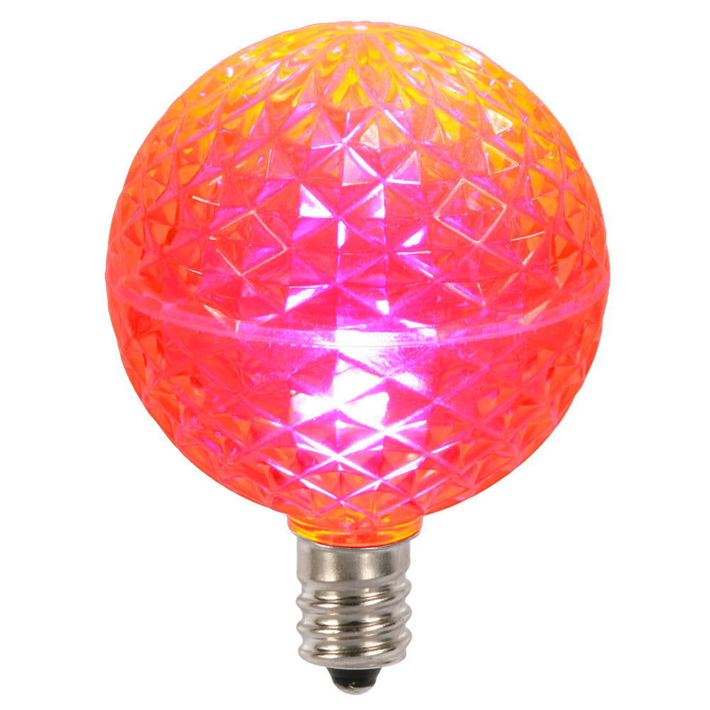 Vickerman G50 Faceted LED Pink Bulb E12 .38W