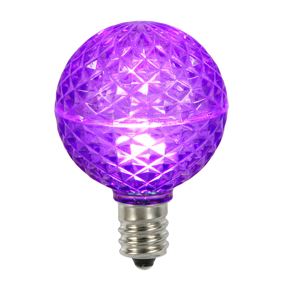 10PK - Vickerman Purple Faceted G50 LED Replacement Bulb