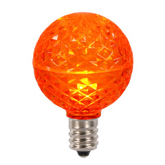 10PK - Vickerman Orange Faceted G50 LED Replacement Bulb