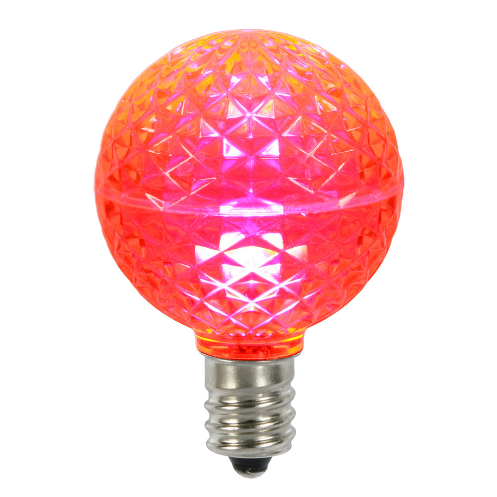 10PK - Vickerman Pink Faceted G50 LED Replacement Bulb