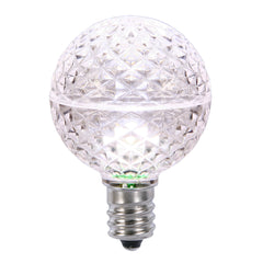 10PK - Vickerman Pure White Faceted G50 LED Replacement Bulb