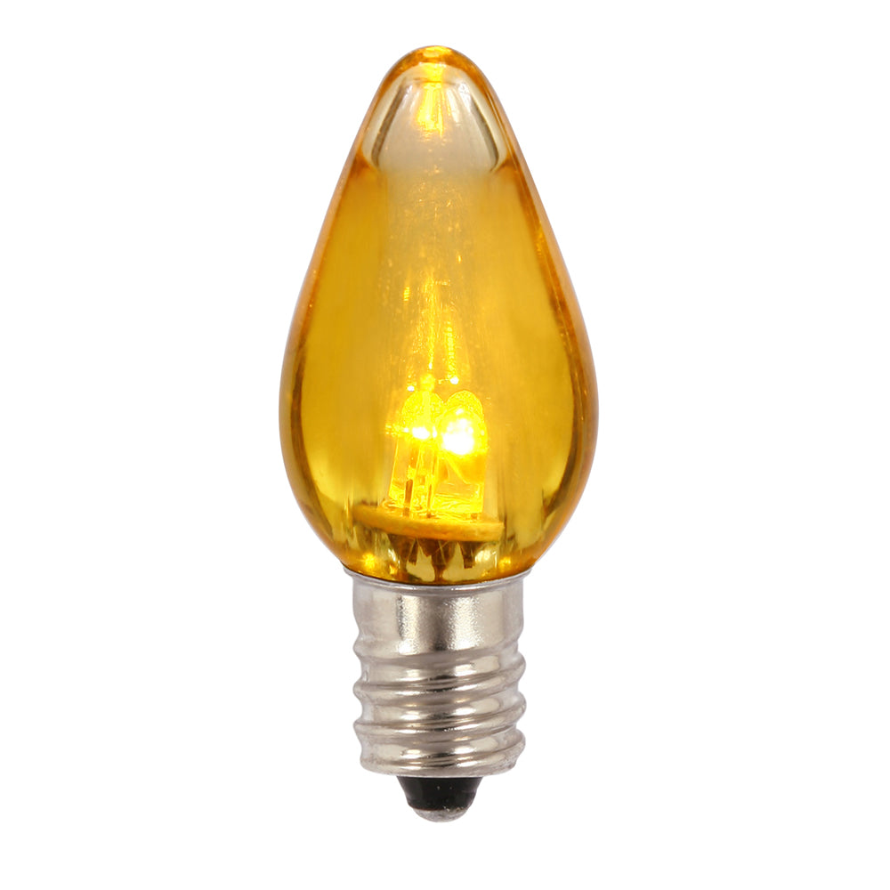 Vickerman C7 Transparent LED Yellow Bulb .96W 130V