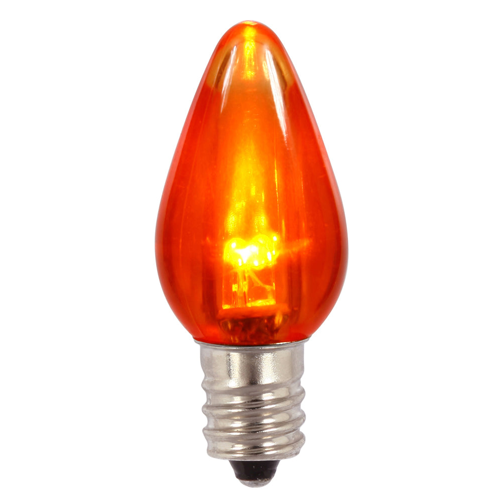 Vickerman C7 Transparent LED Orange Bulb .96W 130V