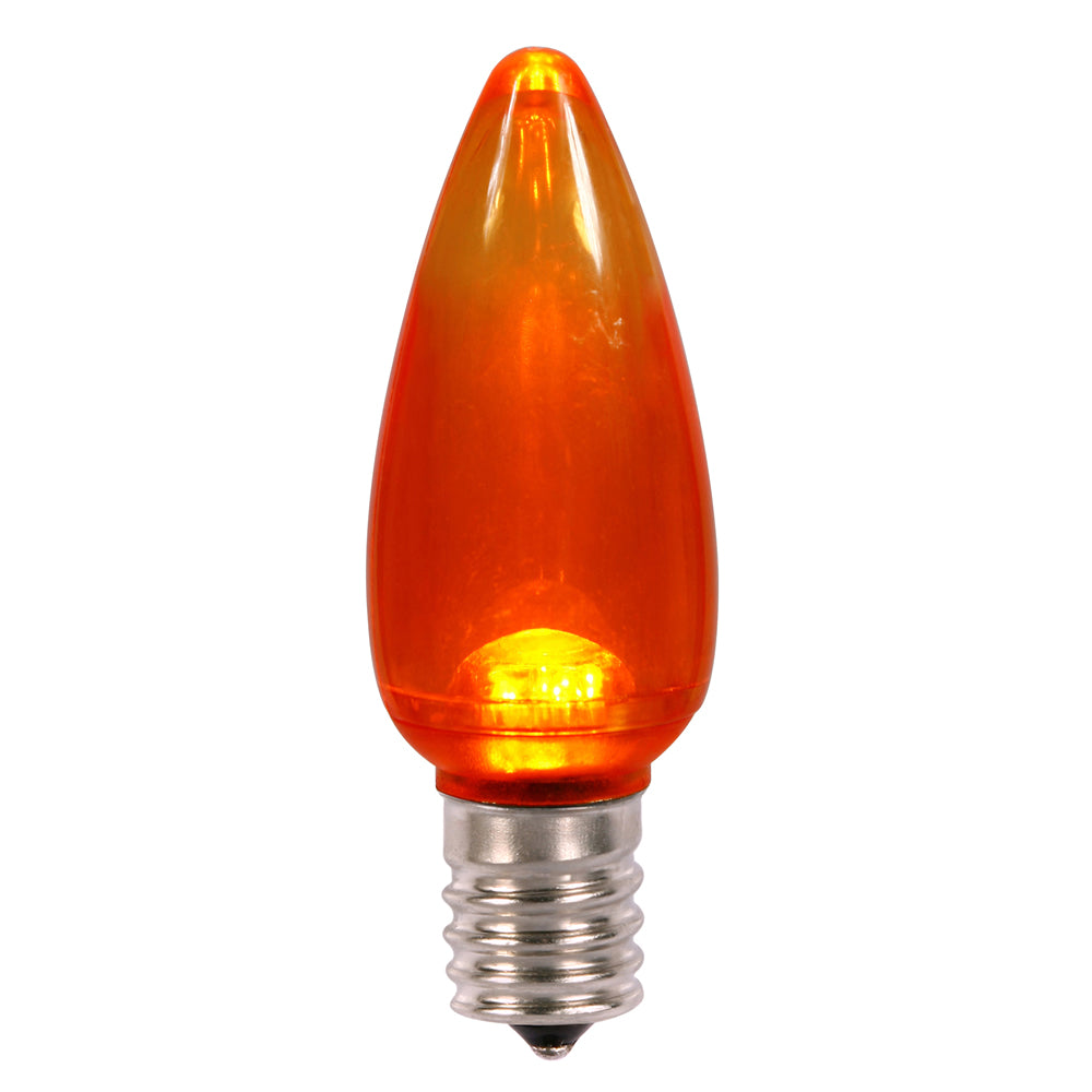 Vickerman C9 Transparent LED Orange Bulb .96W 130V