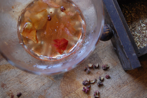 quince, rose & szechuan jelly