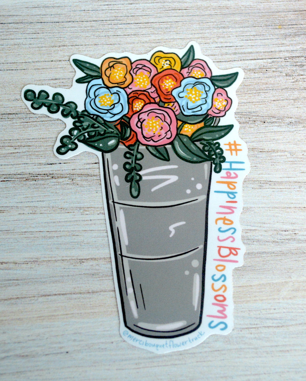 Flower Bucket Sticker
