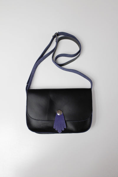 MINIMING Girl's purse black purple tassle