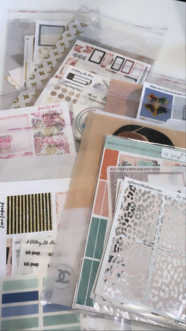 OOPS XL GRAB BAGS- Foiled And Regular Stickers, Dashboards, Dividers and Vellums