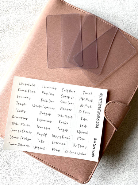 Task Cards for Planners and Organizing - DIY task card supplies