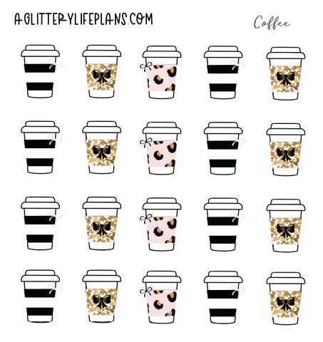 Chic Fashion COFFEE CUP STICKERS -Leopard Print Coffee Cups - All Coffee Cups