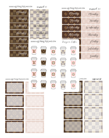 Inspired Collection - Designer Coffee Cups - Designer Date Covers -Designer Half Boxes