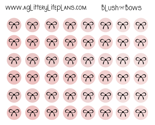 Bows and Peonies Printed Transparent Matte Dots -3 Patterns to Select From