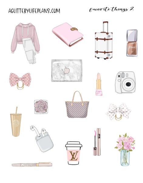 Favorite Things Deco Icon stickers