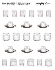 Candle deco Sheet Stickers