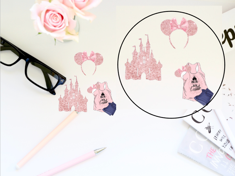Blush Disney Vinyl Sticker Set