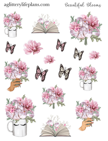 Beautiful Blooms Floral Deco Icon Sheet Stickers