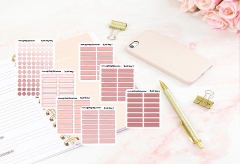 Blush Baby Teeny transparent dots and transparent boxes