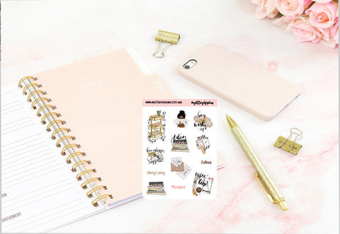 Planner Life Icons Deco Stickers
