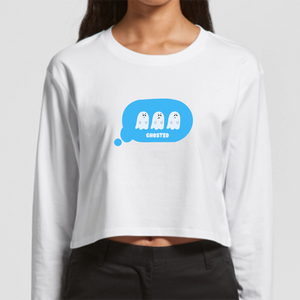 You've Been Ghosted Long Sleeve Crop