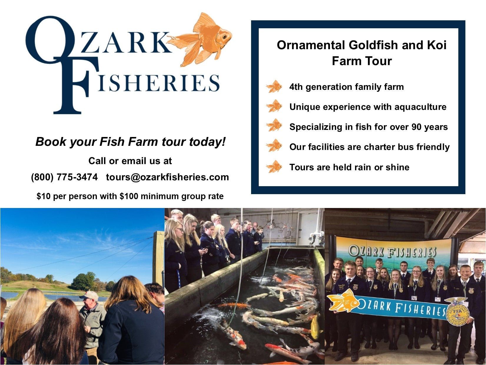 Fish farm tours