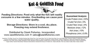 Ozark Fisheries Fish Food Facts
