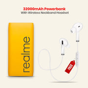32000 mAh Powerbank With free Wireless Neckband Headset