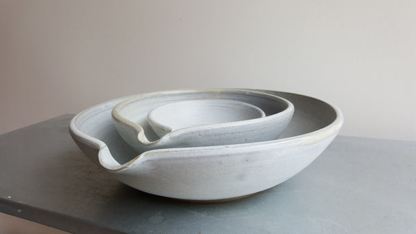 Set of Stone Pouring Nesting Bowls.