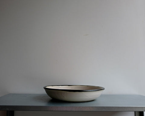 Bone Low Serving Bowl