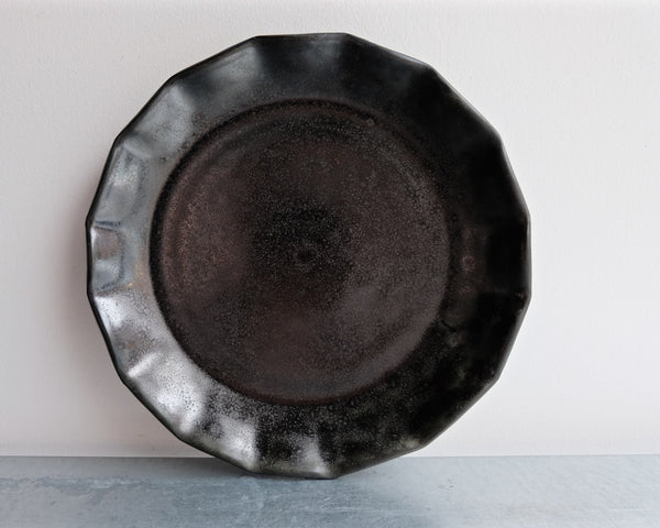 One/Kind Black Frilly Plate
