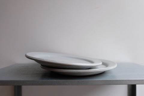 Dirty Grey Italian Dinner Plate