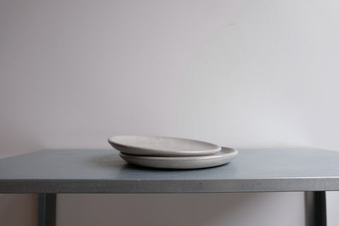 Set of Two Grey Side Plates