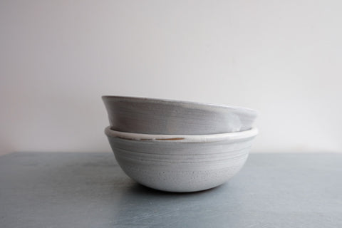 Dirty Grey Soup Bowl