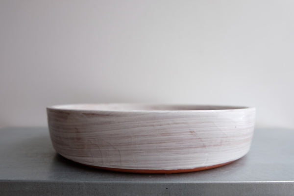 Brushed White Cylinder Bowl