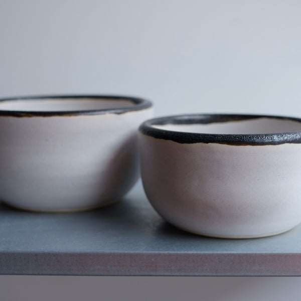 Set of Fringe Bone Bowls