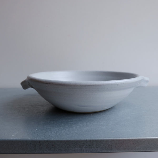 Stone Low Bowl with Handle