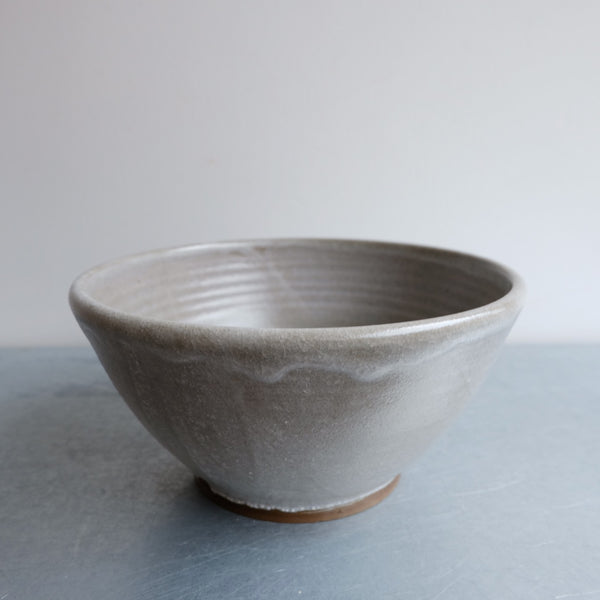 Convex Gray Ramen Bowl