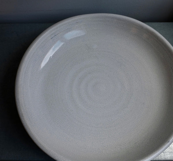 Crackle White Serving Bowl (Seconds)