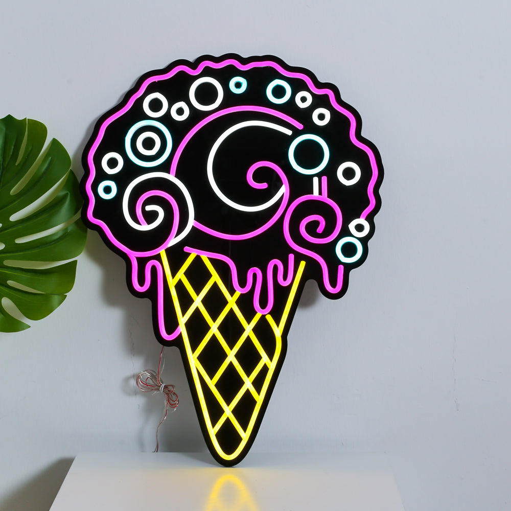 Newest Ice Cream Cafe Logo LED Neon Light Sign Home Gift Home Personalised
