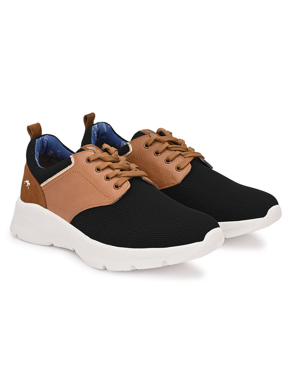 Hitz Black+Tan Lace-up Luxure Shoes