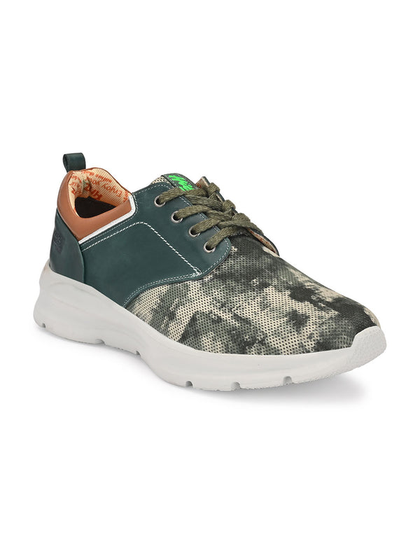 Hitz Green Lace-up Luxure Shoes