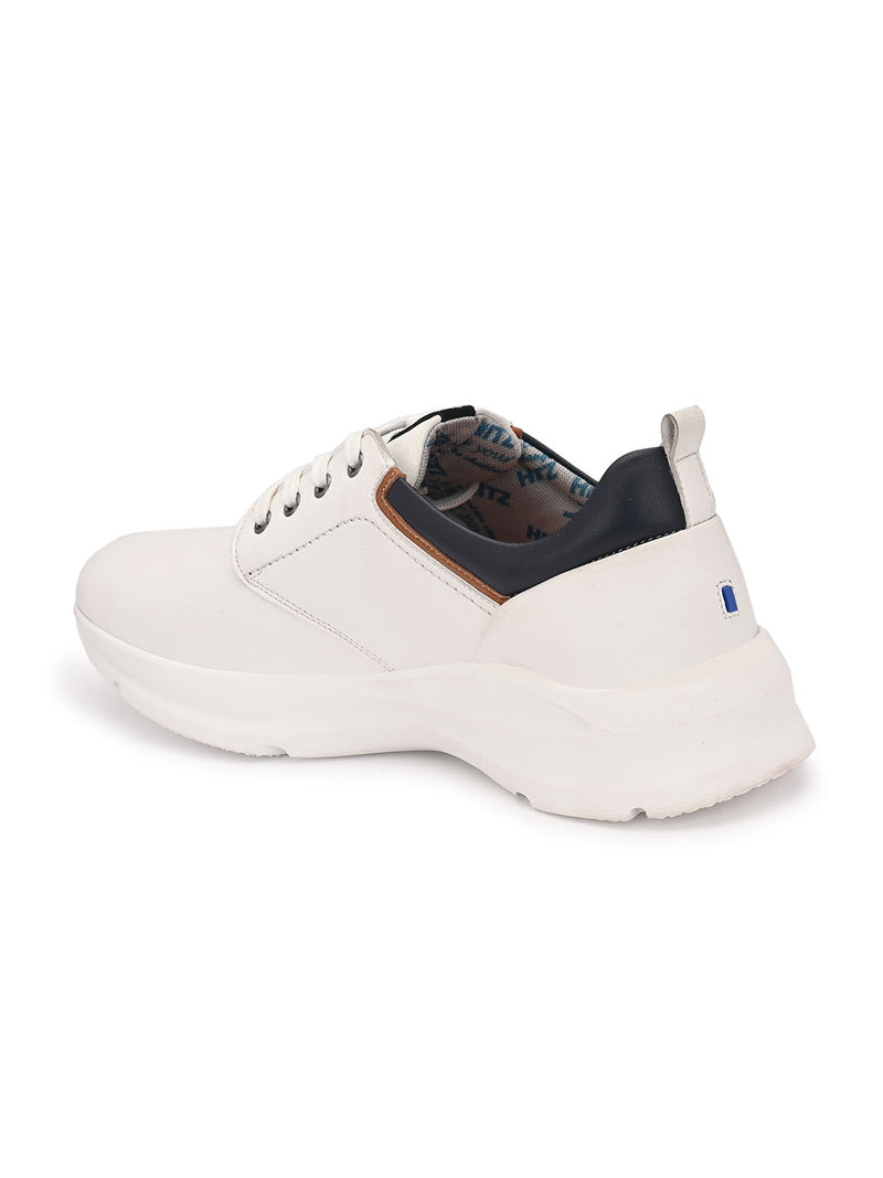 Hitz White Lace-up Luxure Shoes