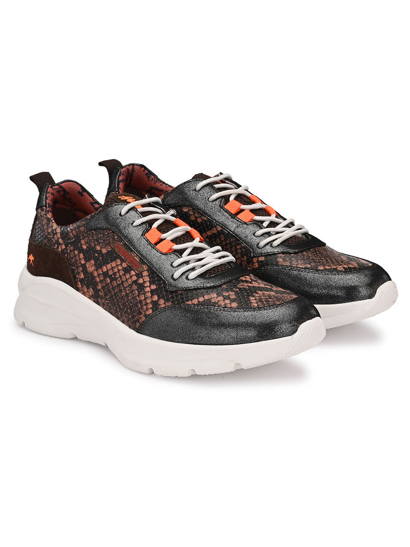 Hitz Brown Lace-up Luxure Shoes