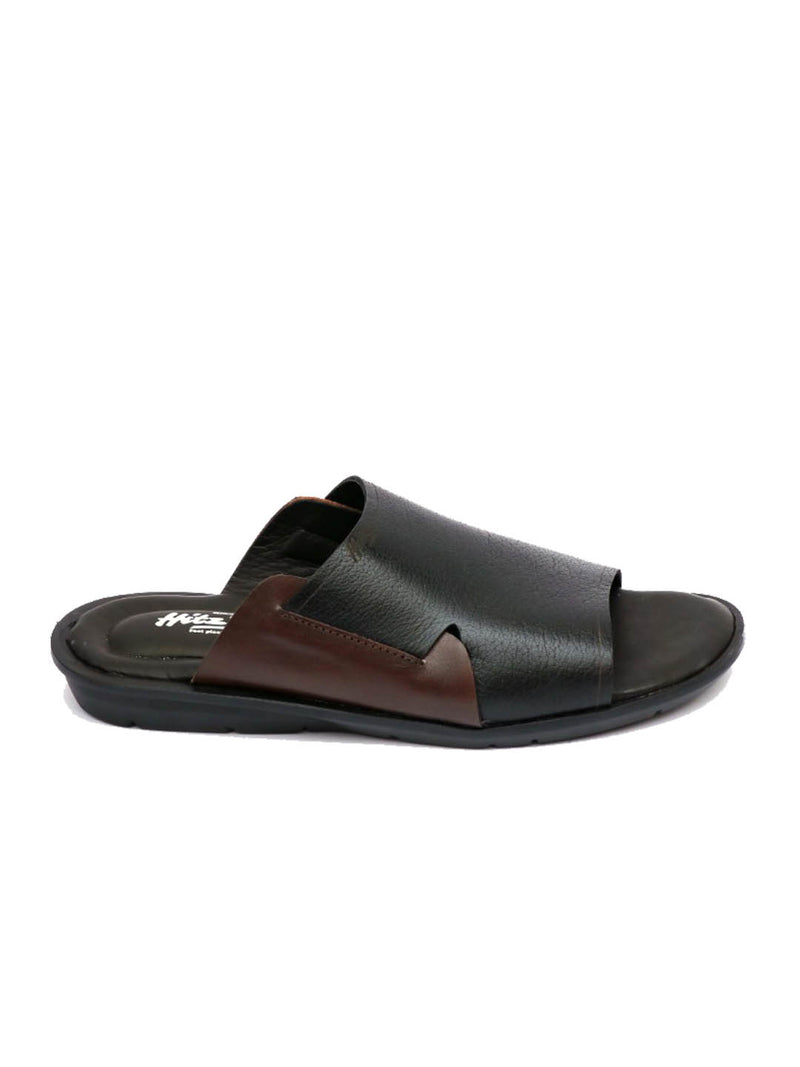 Costa - 1004 Black Leather Slippers