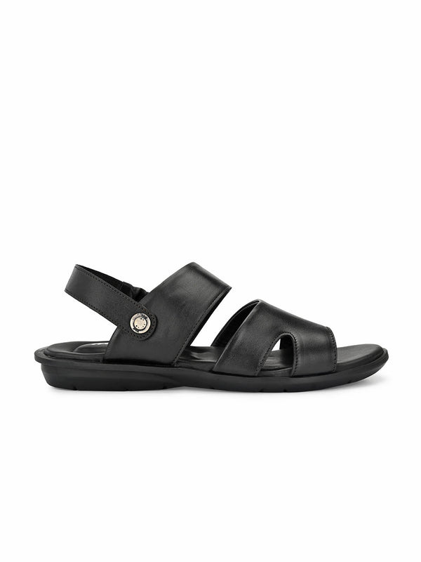 Costa - 1007 Black Leather Sandals