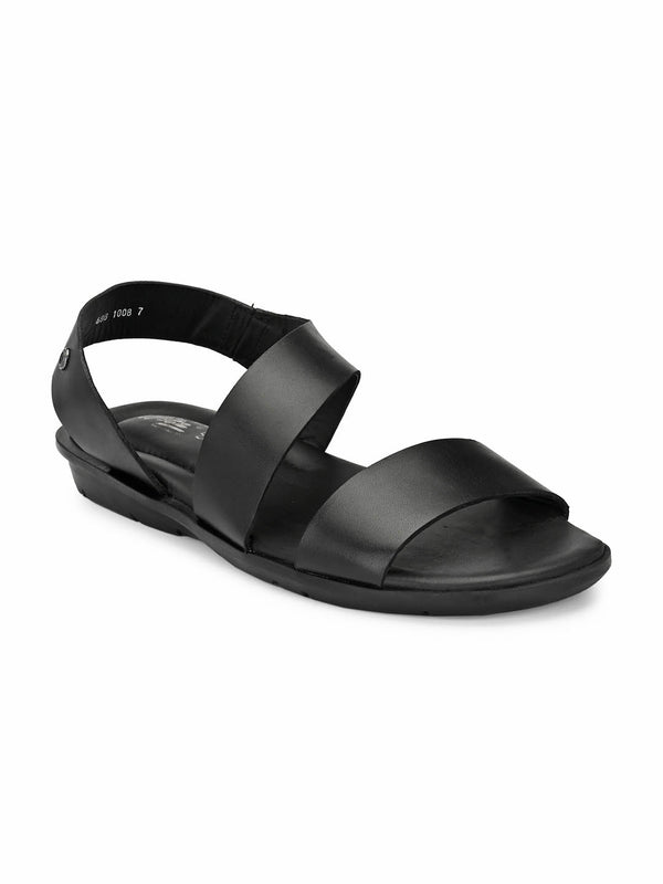 Costa - 1008 Black Leather Sandals