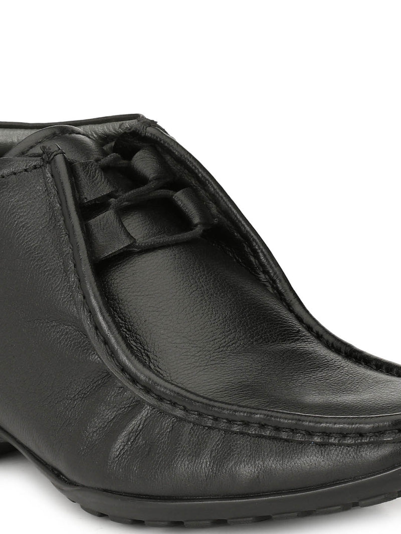 Men Black Derby Leather Boots