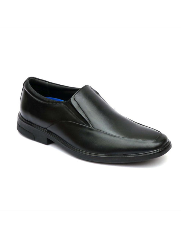 Men Black Formal Slip-On Leather Shoes