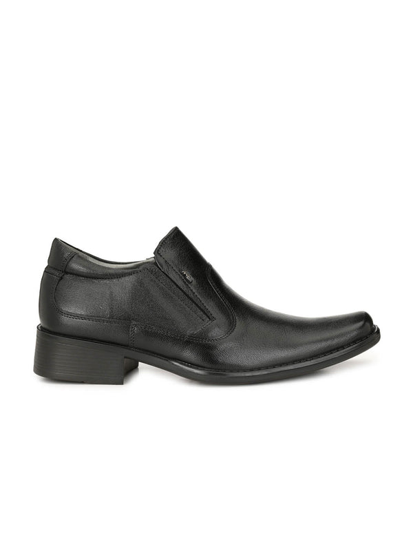 Leo - 1414 Black Formal Leather Shoes
